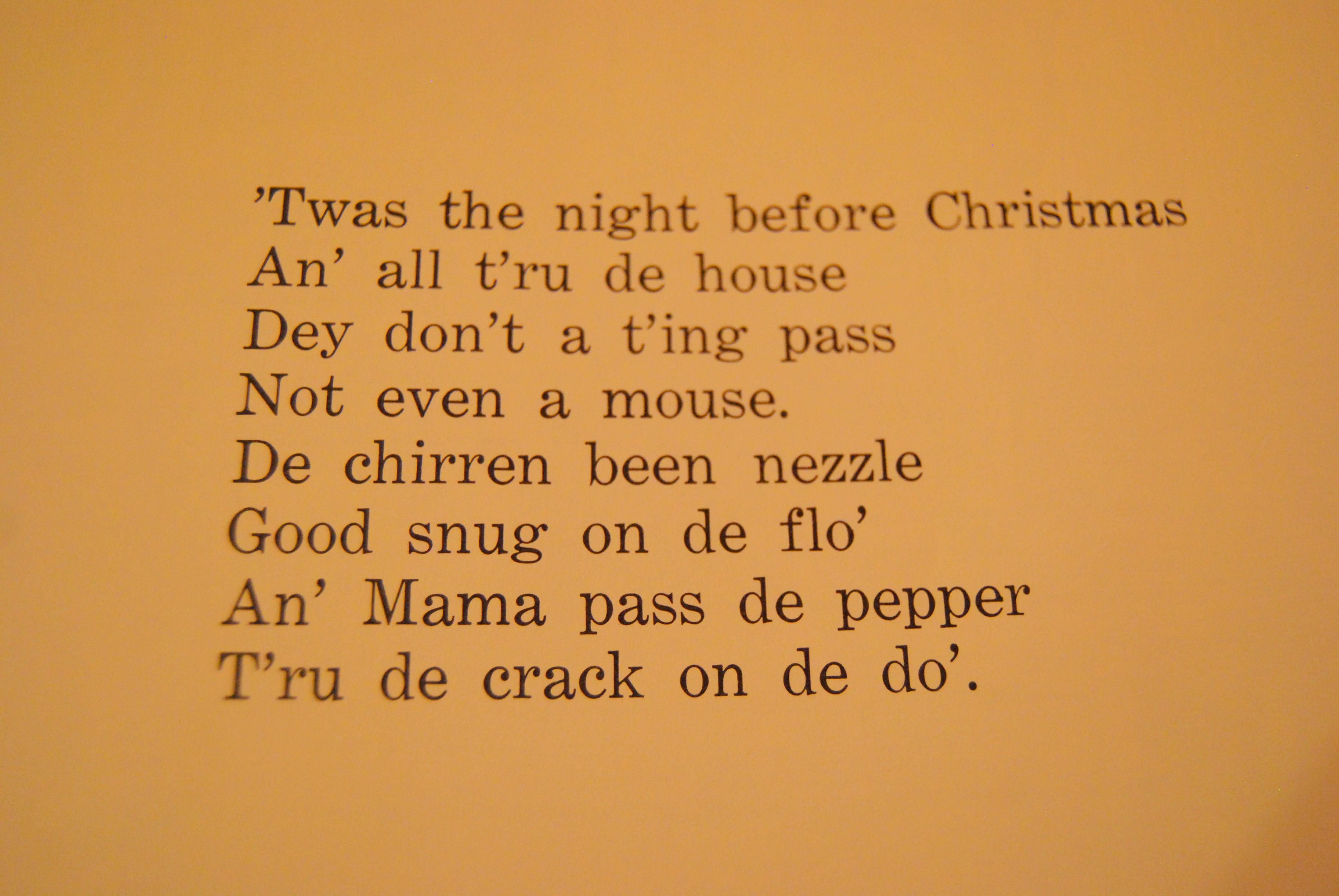 the cajun night before christmas - Cajun Night Before Christmas